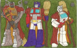 team autobot keeper + beaters by jaykitsune