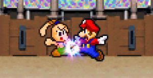 SMBGT Fake Screenshot #03 - Mario vs. Tiff by KingAsylus91