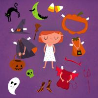 Halloween paper doll- Christina-Elefsinius by childrensillustrator