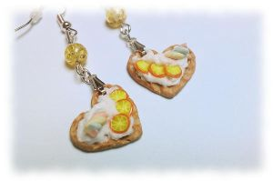 waffles fimo earrings by ShirNek0