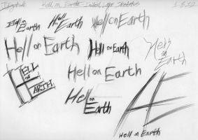 Hell on Earth - Initial Logo Sketches by MysteryEzekude