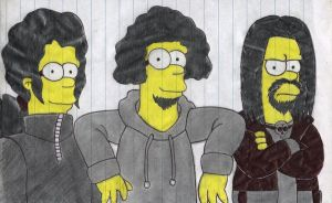 The Papajhon Simpsons Crew by Gothicdarkness