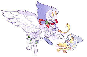 Re-Auction: Winged Holiday Weaver! /CLOSED by bananamantis