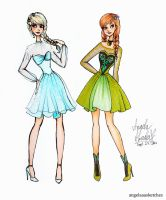 Frozen Fashion by angelaaasketches