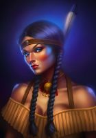 Sin City: Native American Woman 2 by cgaddictworld