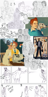 Adventures of Tintin Art Dump by XtreamCrazy