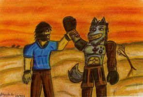 Stig and tigriss (friend in the desert) by tigrisssilvery