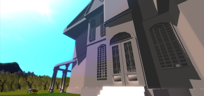 Today: Mansion Model WIP by Glowandstar