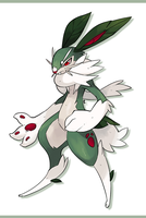 Grass bunny fakemon by Kipine