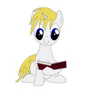 OC Pony: Blades Knight reading a book by bloodblader