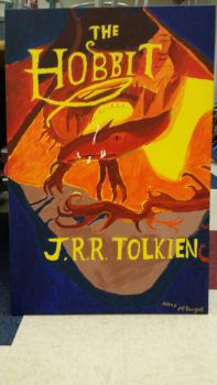 the hobbit book cover by lolahaley