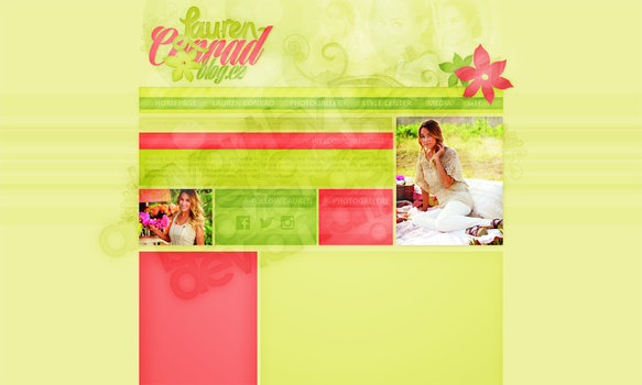 Layout: Lauren Conrad by iseayoubeach