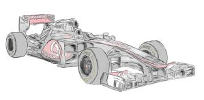 Vodafone McLaren 2012 F1 Car by sikelsh