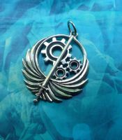 Brotherhood Of Steel Pendant by Silver-Otter