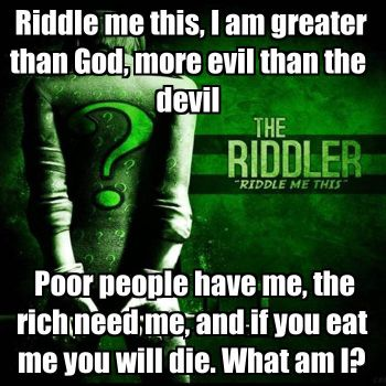 Riddle me this part one by shadouge106