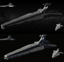 Imperial Venator-class Star Destroyers by ExoticcTofu