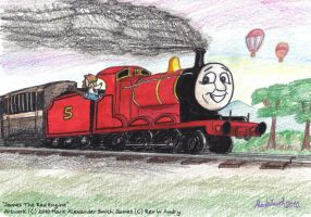 James The Red Engine by FreyFox