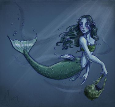 Mermaid On The ... Run? (Painted) by kuabci