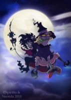 Witches night out by Necrida7