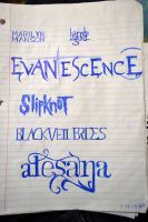 Band Logos by gavanah