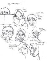 Raven and Beast Boy Doodles by AshTree23