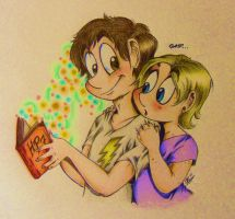 Me and Francis-HP reading by BenjiLion09