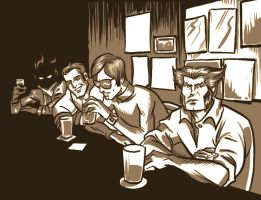 X-Men at the pub by Newtasty