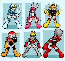 Megaman Female robot masters by edbot5000