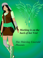 Outfit Gift: The Thieving Emerald Phoenix~! by WhiteMageHealer