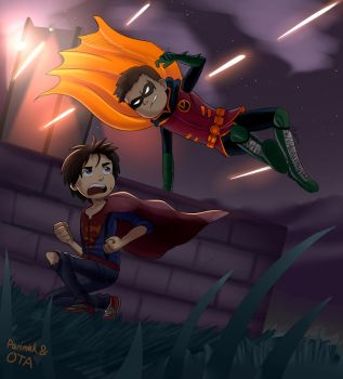 Damian and Jon in trouble by Parimak