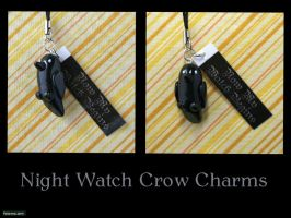 GoT: Night Watch Charm by CadmiumCrab