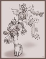 Jazz and Starscream by J-666