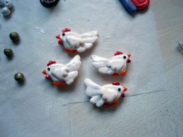 Cucco beads by Gothic-Enchantress