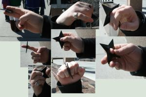 Throwing Star hand references by livion-stock