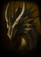 Dragon portrait by grzanka
