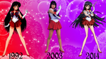 Sailor Mars Over The Years by FlyingPrincess