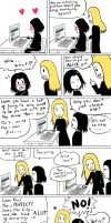 Lucius and Snape talking about fangirls by sigroneta