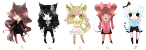 .:ADOPTABLES : CLOSED :. by melloskitten