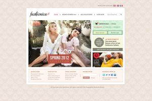 Fashion store - PSD website template design by MadanPatil