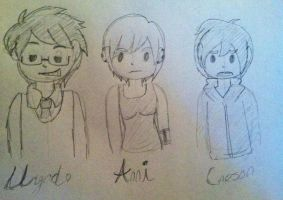 DW- Main Charactet Chibi Sketches by Lady-of-Ratatosk