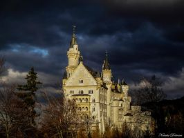 Stormy clouds at Neuschwanstein Castle by mydarkeyes