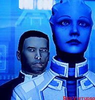 James Shepard and Liara by RedVirtuoso