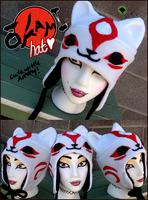 Okami Amaterasu Hat by Butterscotch-Llama