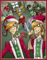 The Weasley Twins do Christmas by Buuya