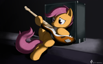 Bass Scootaloo by Tetrapony