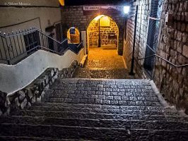 Stairway to synagogue by ShlomitMessica