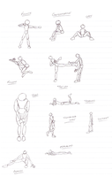 Study of Poses by jacquelynfisher