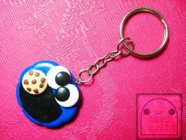 Cookie Monster Keychain by efeeha