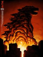 NEW Mondo Godzilla 2014 Poster by Awesomeness360