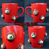 I See You Deluxe Mug ooak by Undead-Art